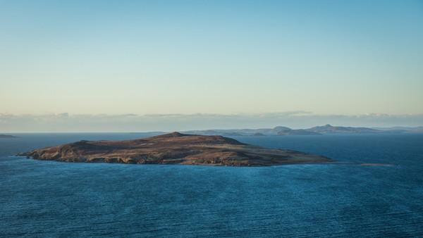 Gruinard Island, pulau kecil dengan bentuk oval di Skotlandia, Britania Raya.(Getty Images/iStockphoto/Colin_Hunter)
