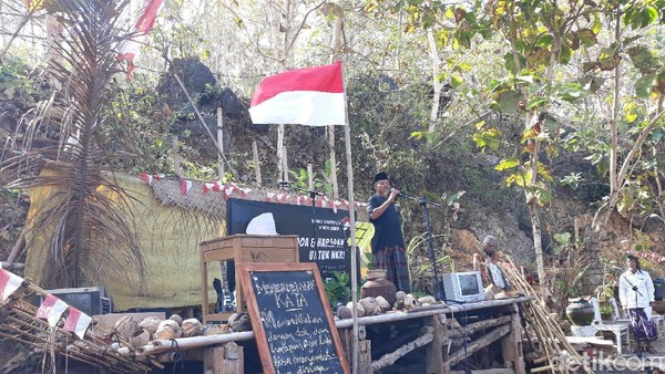 Pemilik obyek wisata Watu Lumbung, Boy Rifai mengaku tidak masalah jika Watu Lumbung batal sebagai tempat wisata yang melakukan uji coba pembukaan selama PPKM level 3. (Pradito Rida Pertana/detikTravel)