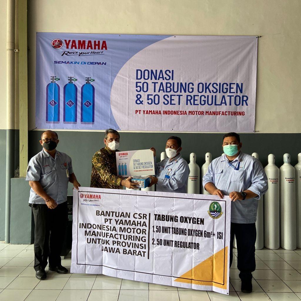 Donasi Yamaha Indonesia selama pandemi COVID-19.