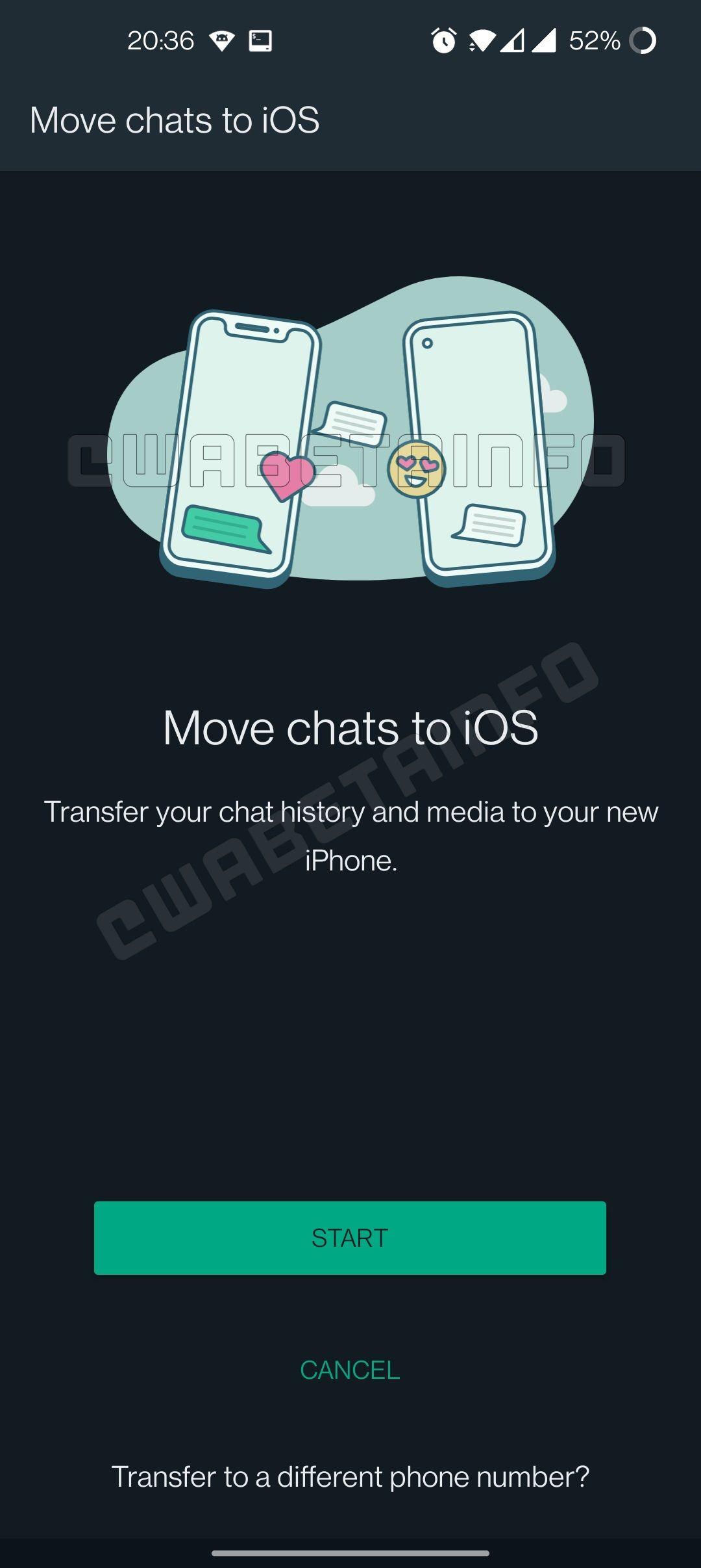 Fitur transfer chat WhatsApp dari Android ke iPhone
