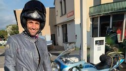 Bikers Sejati, Zarco Touring dari Prancis ke Aragon Naik Motor Jadul