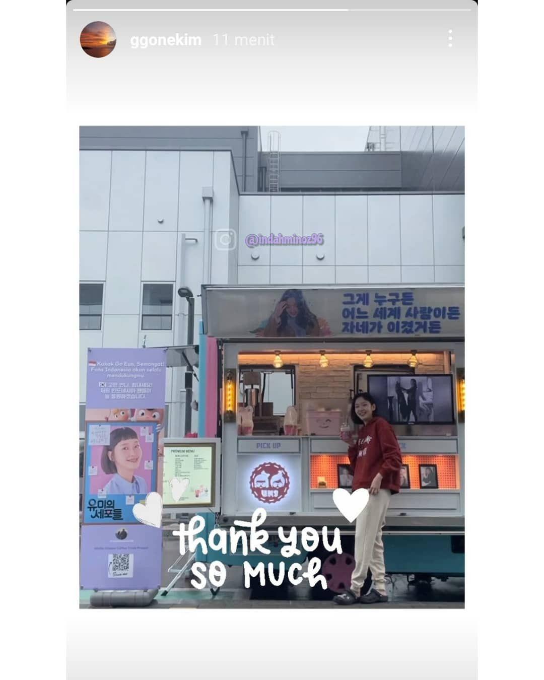 Kim Go Eun Dapat Kiriman Nasi Kuning dari Fans di Indonesia