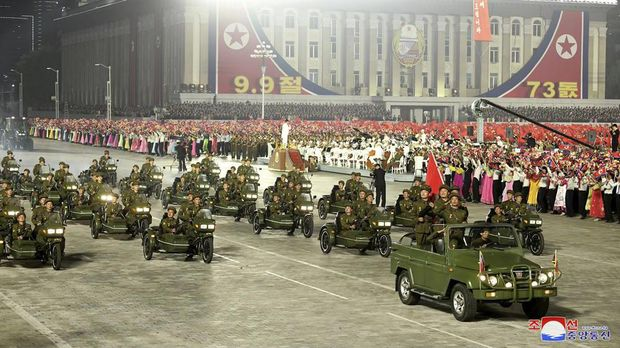 Parade Militer Terbaru Korut (Korean Central News Agency/Korea News Service via AP)