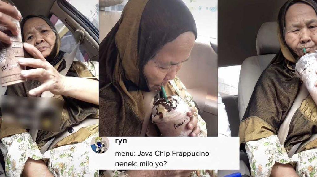 Pertama Kali Cicip Minuman Starbucks, Begini Komentar Kocak Seorang Nenek