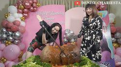 Denise Chariesta dan Dinar Candy Mukbang Bakso Rp 25 Juta, Beratnya 75 Kg!