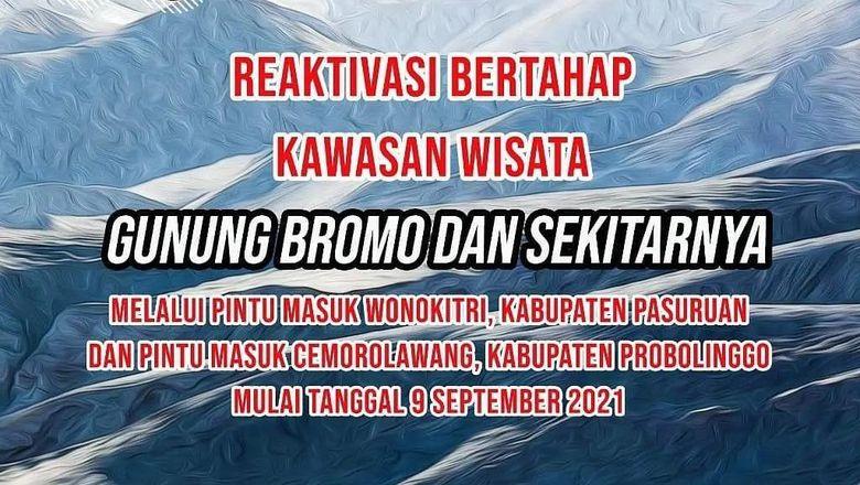 Gunung Bromo kembali dibuka