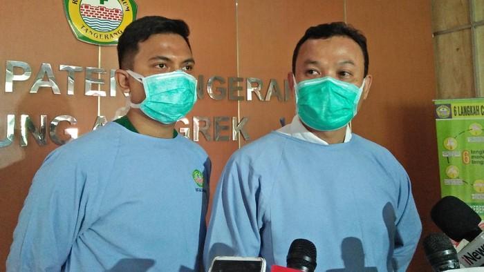 Kepala Instalasi Hukum Publikasi dan Informasi RSUD Kabupaten Tangerang, Hilwani (kanan) (Foto: Nahda/detikcom)
