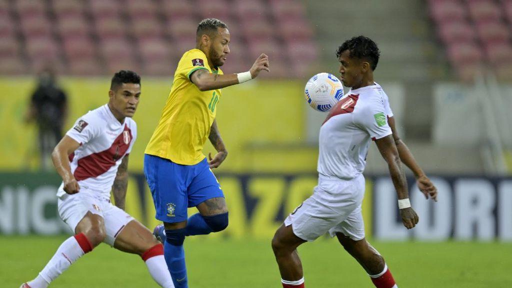 Brasil Atasi Peru, Neymar Cetak Gol dan Assist