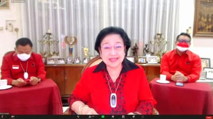 Megawati Soekarnoputri muncul di tengah isu sakit (Foto: Tangkapan layar YouTube PDIP)