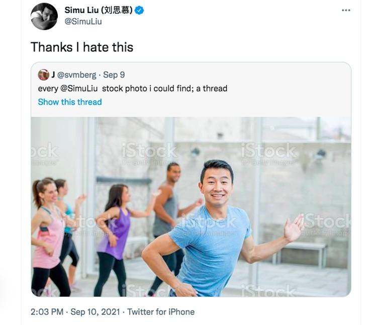 Meme Simu Liu Aktor Film Shang-Chi