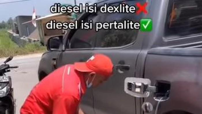 Mobil salah isi BBM
