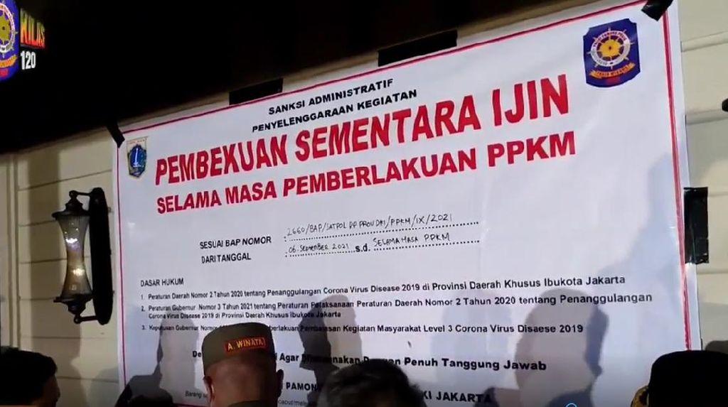 Beroperasi saat PPKM, Bar di Jakarta Selatan Kini Disegel