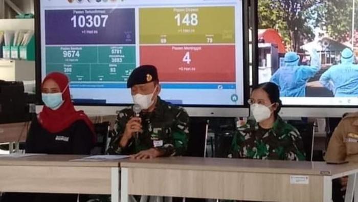 Penanggung jawab Lapangan Indrapura (RSLI) Surabaya, Laksamana Pertama dr Ahmad Samsulhadi MARS