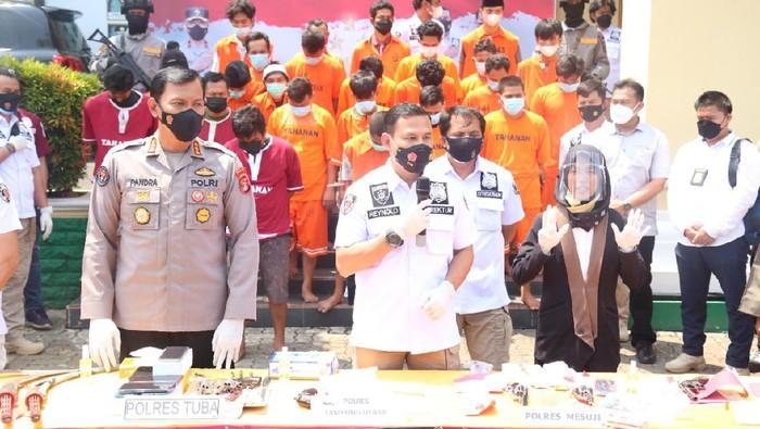 Polda Lampung tangkap 153 bandit selama Agustus-September 2021