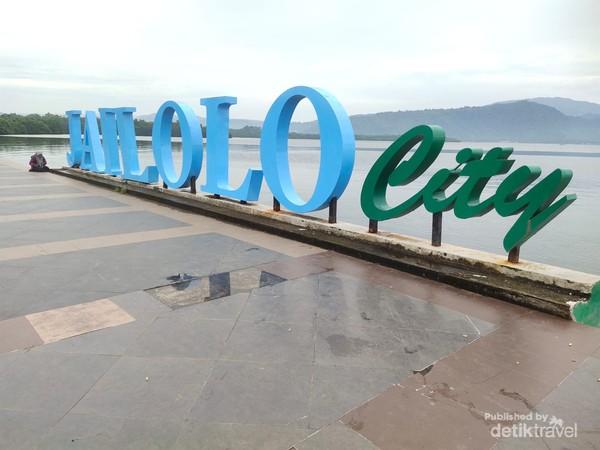 Tulisan Jailolo City untuk Spot Foto Turis