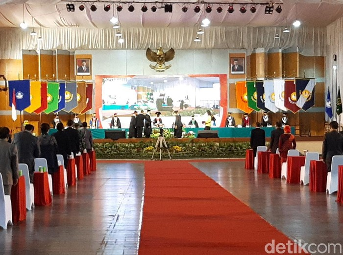 Suasana pengukuhan Jaksa Agung ST Burhanuddin sebagai profesor oleh Universitas Jenderal Soedirman (Unsoed) Purwokerto, Jumat (10/9/2021).