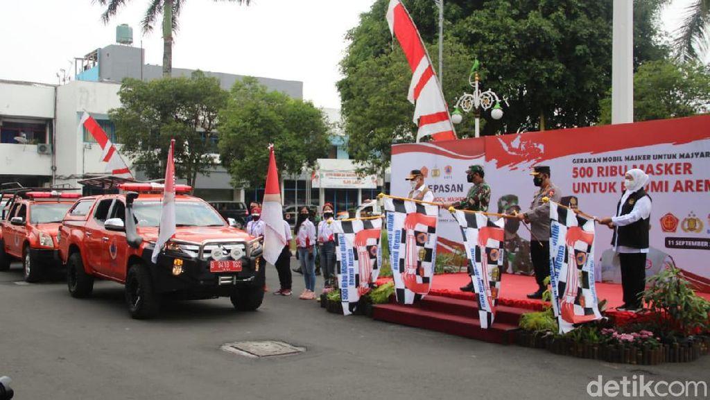 Panglima TNI dan Kapolri Luncurkan Gerakan Mobil Masker untuk Malang Raya