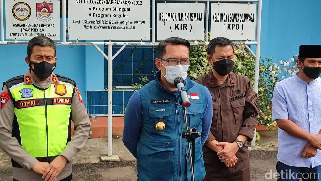 Ridwan Kamil Ragukan Data 149 Klaster COVID-19 Sekolah di Jabar