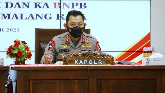 Kapolri Jenderal Listyo Sigit Prabowo pimpin rapat Forkopimda Malang Raya
