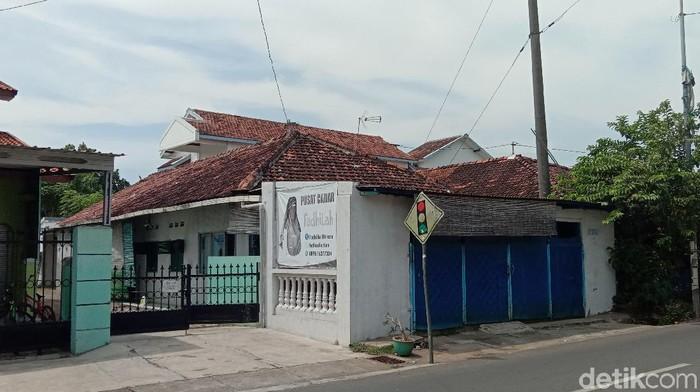 Rumah terduga teroris AR di Kudus (cat hijau). AR diketahui merupakan dewan syuro JI era Parawijayanto
