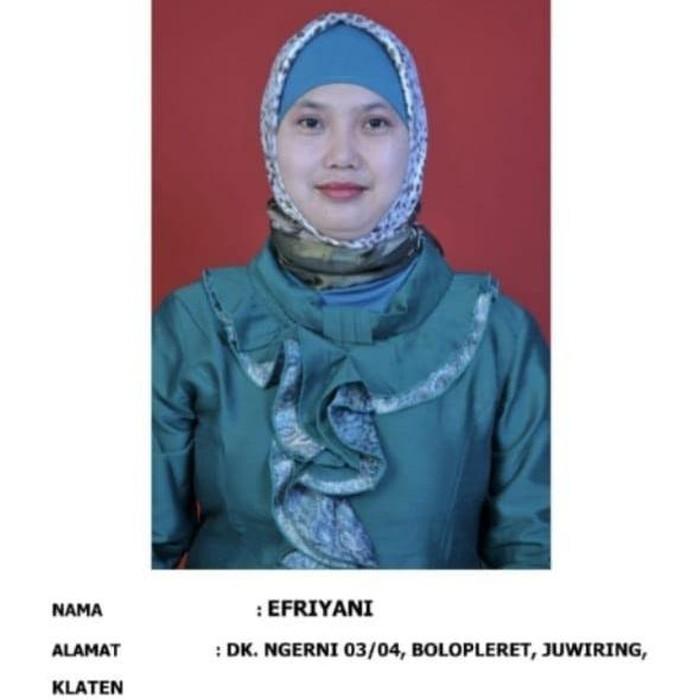 Efriyani, ibu rumah tangga di Klaten yang hilang