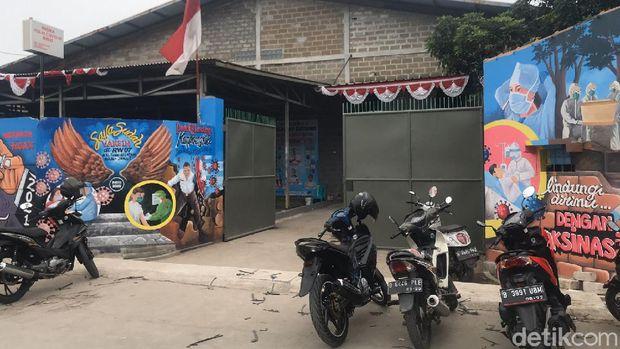 Lokasi gos tempat Anies Baswedan terpesok saat tinjau vaksinasi di Tugu Selatan, Koja, Jakut