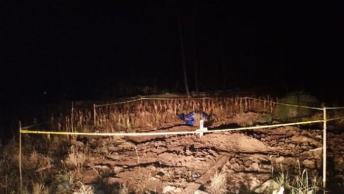 Makam di Pinrang ditemukan terbongkar. Polisi duga keluarga memindahkan jenazah.