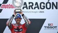 Wejangan Rossi Bikin Bagnaia Bisa Asapi Marquez di MotoGP Aragon