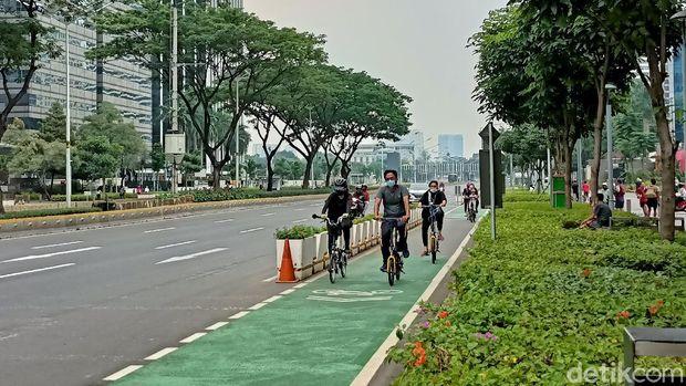 Pesepeda di Sudirman-Thamrin (Karin Nur Secha/detikcom)