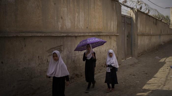 Taliban izinkan perempuan di Afghanistan bersekolah. Namun ada sejumlah persyaratan yang diberikan, salah satunya ruang kelas akan dipisahkan berdasarkan gender