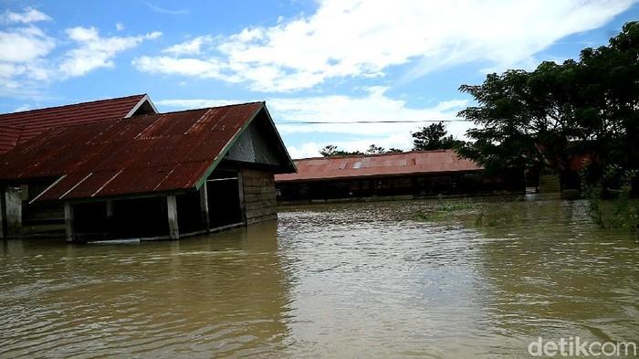 Banjir di Kabupaten Wajo, Sulsel meluas ke 48 desa di 6 kecamatan. Banjir menyebkan 10 ribu lebih rumah warga terdampak. (Zulkipli Natsir/detikcom)