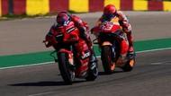 Serangan Bertubi-tubi Marquez untuk Bagnaia di MotoGP Aragon