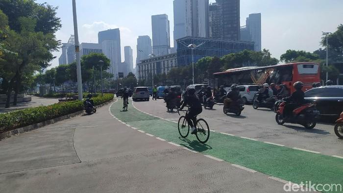 Jalan Sudirman, Jakarta (Dias/detikcom).