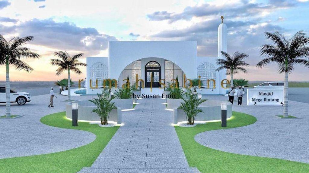8 Desain Masjid Ivan Gunawan, Mewah & Elegan Dengan Dominasi Warna Putih