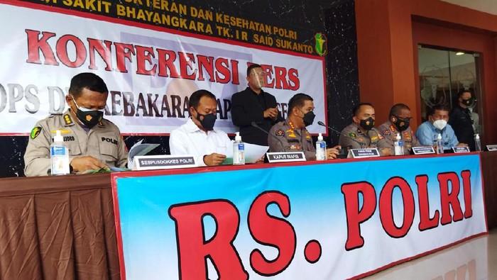 RS Polri kembali umumkan hasil identifikasi 8 jenazah korban kebakaran Lapas Tangerang, Senin (13/9/2021) siang