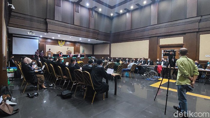 Sidang kasus ASABRI (Zunita Putri/detikcom)
