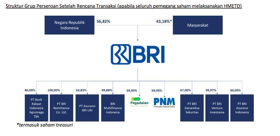 Struktur Holding Ultra Mikro/prospektus BRI