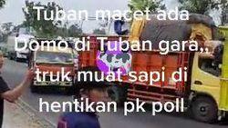 Viral Sopir Truk Sapi Ngeluruk Pos Polisi di Tuban Gegara Ditilang