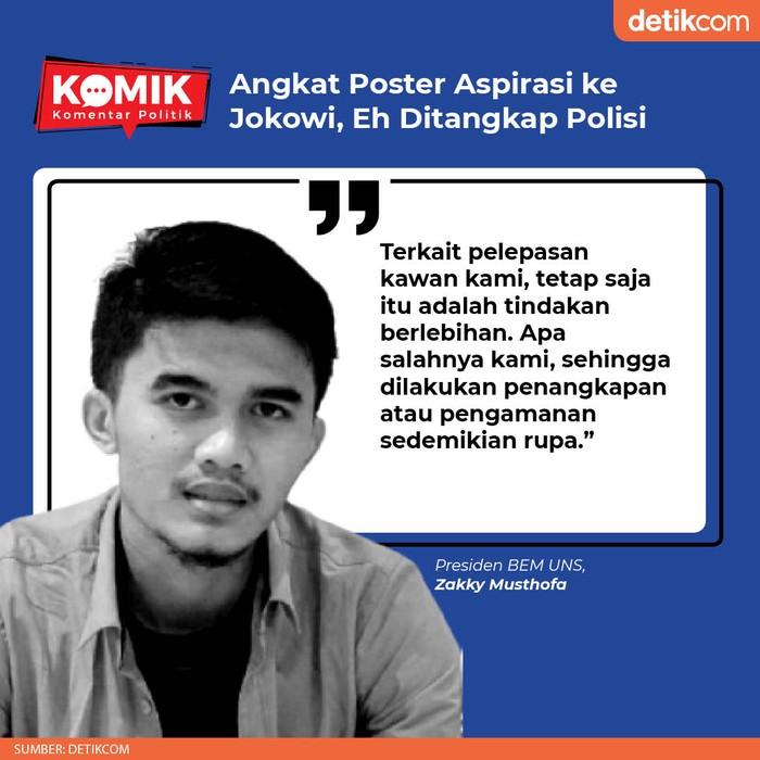 Angkat Poster Aspirasi ke Jokowi, Eh Ditangkap Polisi (Tim Infografis detikcom)