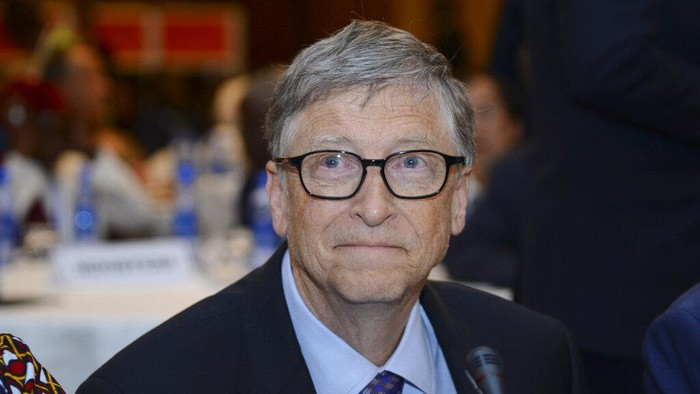 FILE - In this Feb. 9, 2019, file photo, Bill Gates, chairman of the Bill & Melinda Gates Foundation, attends the