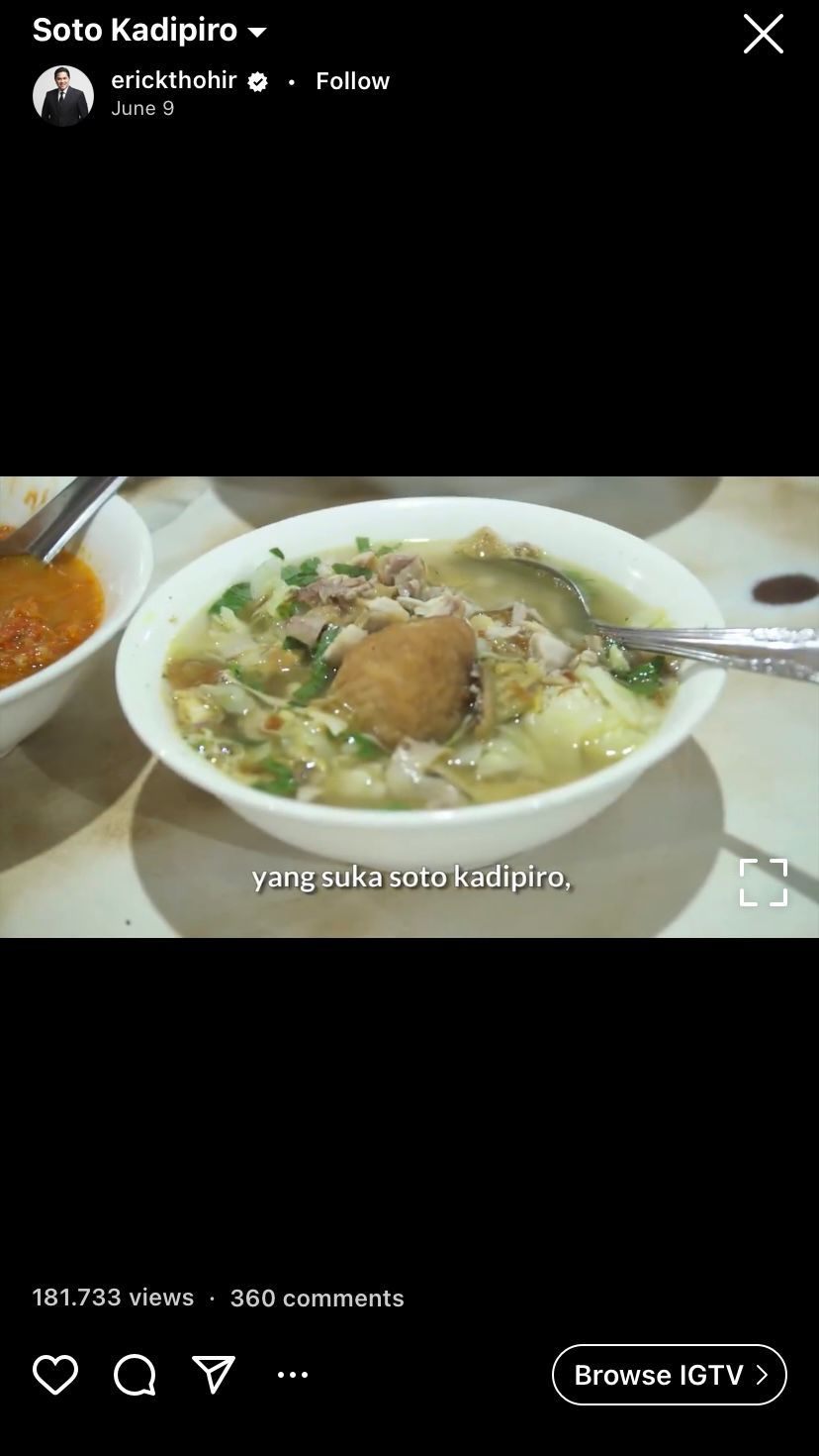 Erick Thohir Doyan Kulineran, Ini 5 Momennya Cicip Makanan Legendaris