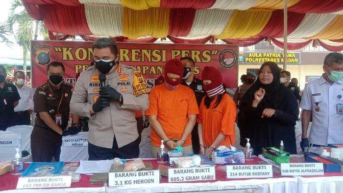 Konferensi pers di Polrestabes Medan (Datuk-detikcom)