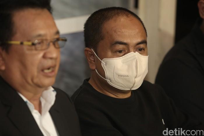 Mansyardin Malik saat menggelar jumpa pers di kawasan Antasari, Jakarta Selatan pada Selasa (14/9).