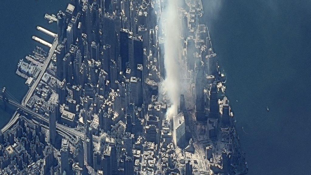 Potret Serangan 11 September Dilihat dari Luar Angkasa