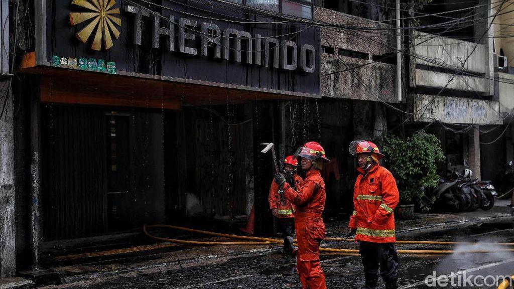 Kerugian Kebakaran Ruko Depan LTC Glodok Jakbar Ditaksir Capai Rp 1 M
