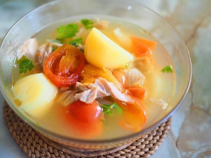 Resep Sop Ayam Suwir Bening