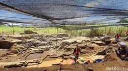 Penampakan Gerbang Istana Paman Hayam Wuruk di Situs Kumitir Mojokerto