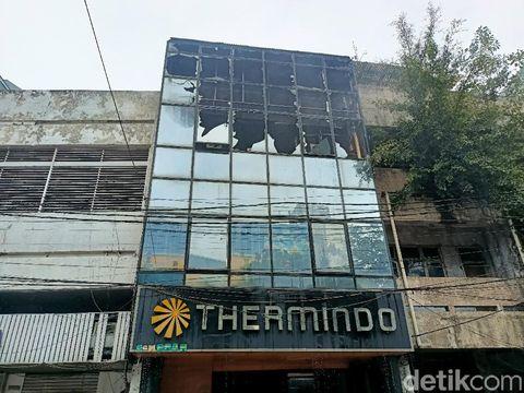 TKP kebakaran ruko depan LTC Glodok (Karin Nur Secha/detikcom)