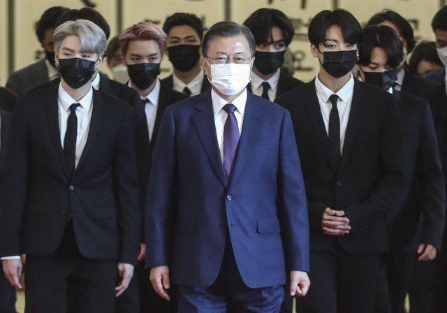 BTS dan Moon Jae In