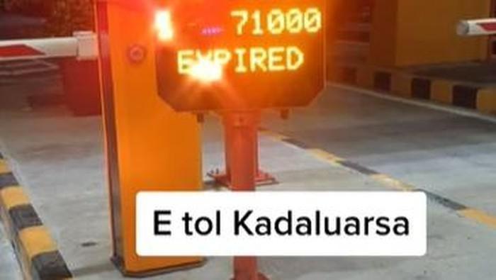Viral Kartu tol expired karena kelamaan berada dalam jalan tol